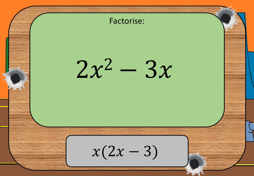 Single Brackets - Expanding & Factorising - With Indices - Shootout