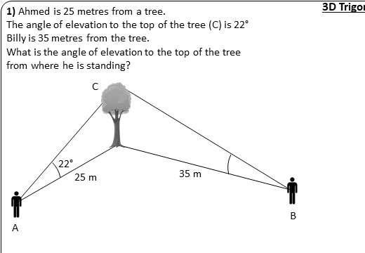 Trigonometry - 3D - Worksheet A