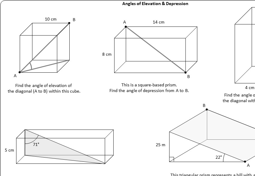 3d Trigonometry Problems Go Teach Maths 1000s Of Free Resources
