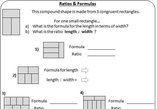 Comparing Ratios - Worksheet A