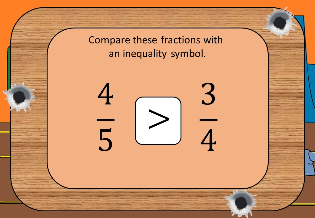 Fractions - Comparing - Inequalities - Shootout