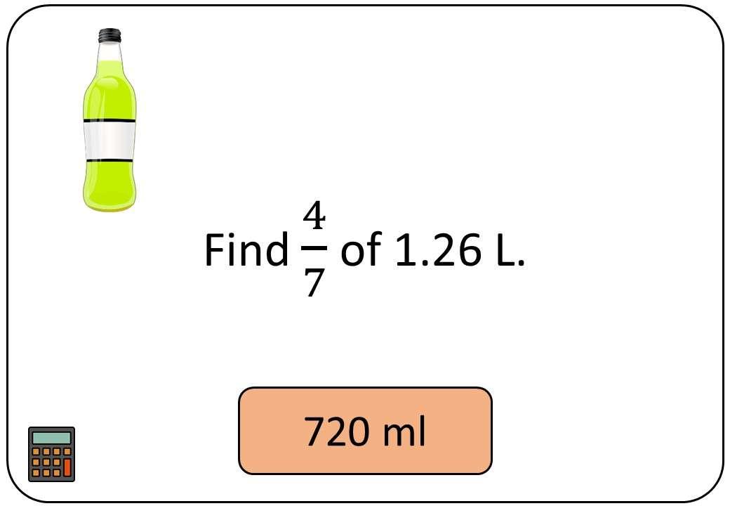 Fractions, Percentages & Ratios of Quantities - Calculator - Bingo OA