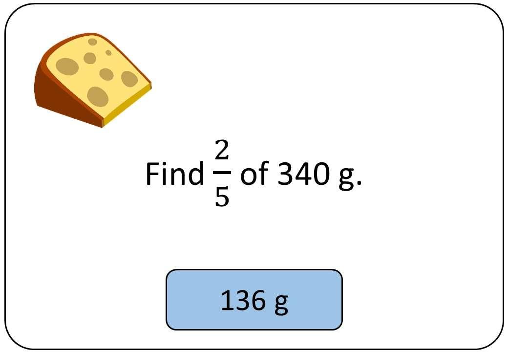Fractions, Percentages & Ratios of Quantities - Non-Calculator - Bingo OA