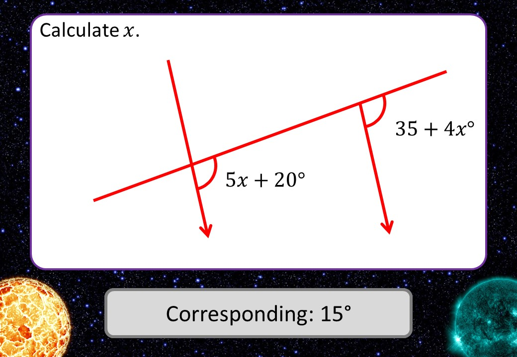 Parallel Lines - Equations - 3 Stars