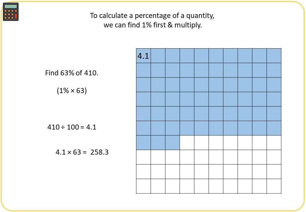 Percentage of a Quantity - Integer - Calculator - Demonstration