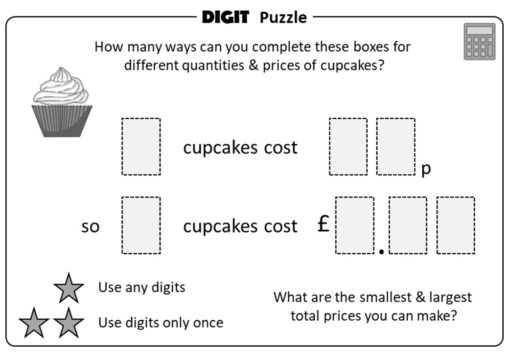 Proportion - Prices - Calculator - Digit Puzzle