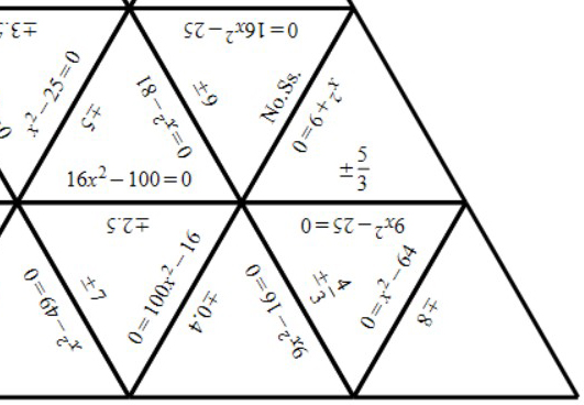 Quadratic Equations - Difference of Two Squares - Tarsia