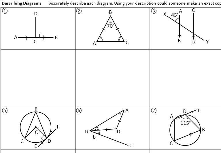 Sketching Diagrams - Worksheet B