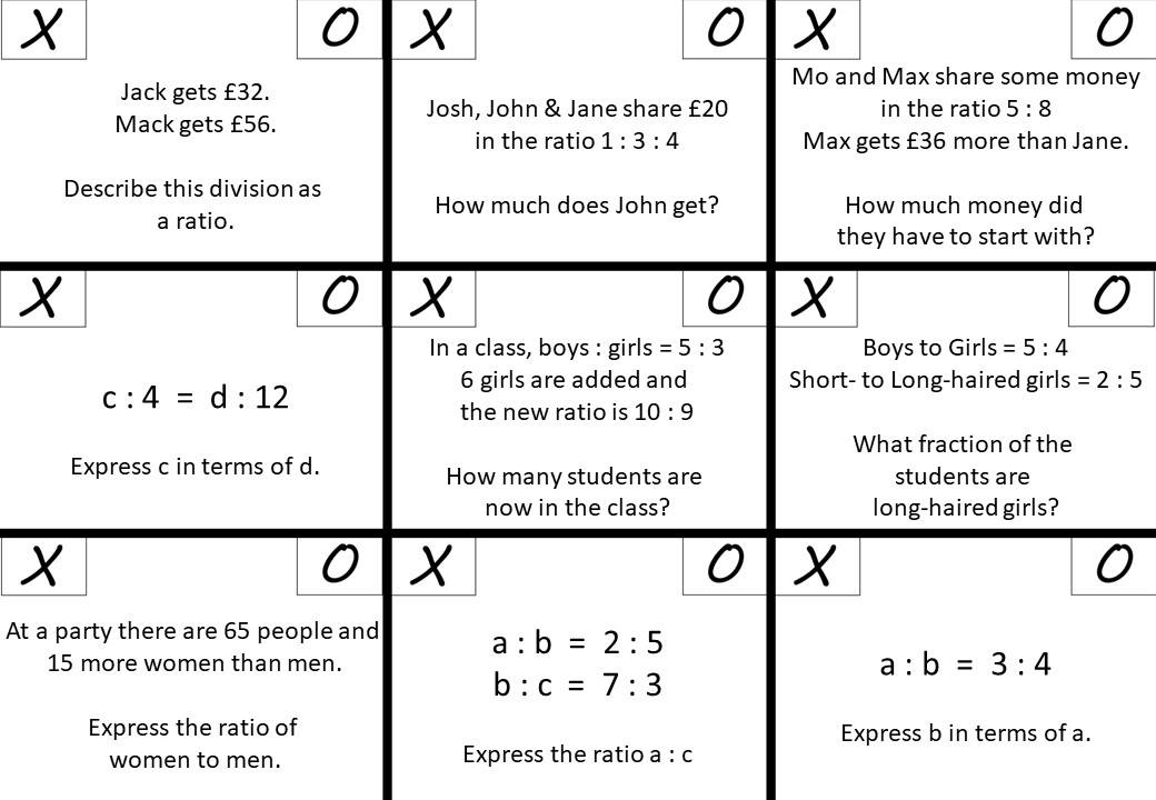 Ratio - Mixed - Higher - Noughts & Crosses