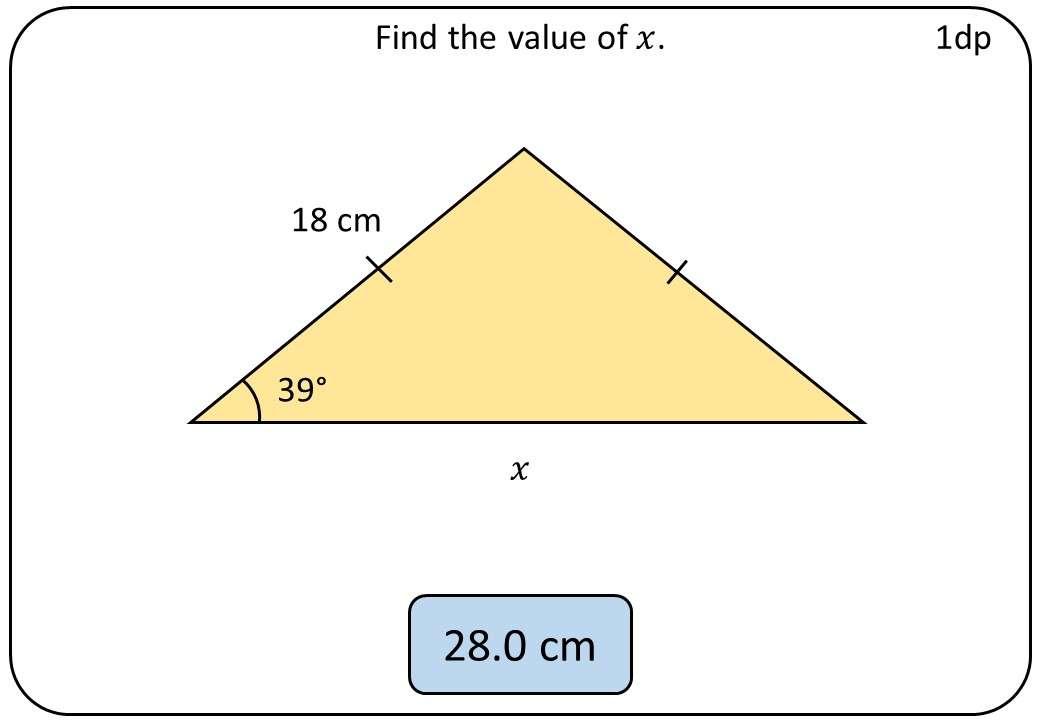 Trigonometry & Pythagoras - Mixed - Bingo OA