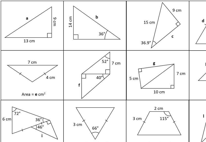 Trigonometry & Pythagoras - Mixed - Card Match