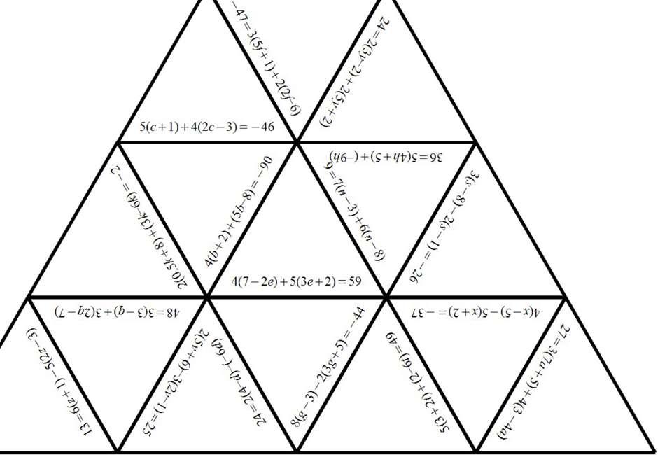 Linear Equations - Brackets - Multiple - Worksheet A