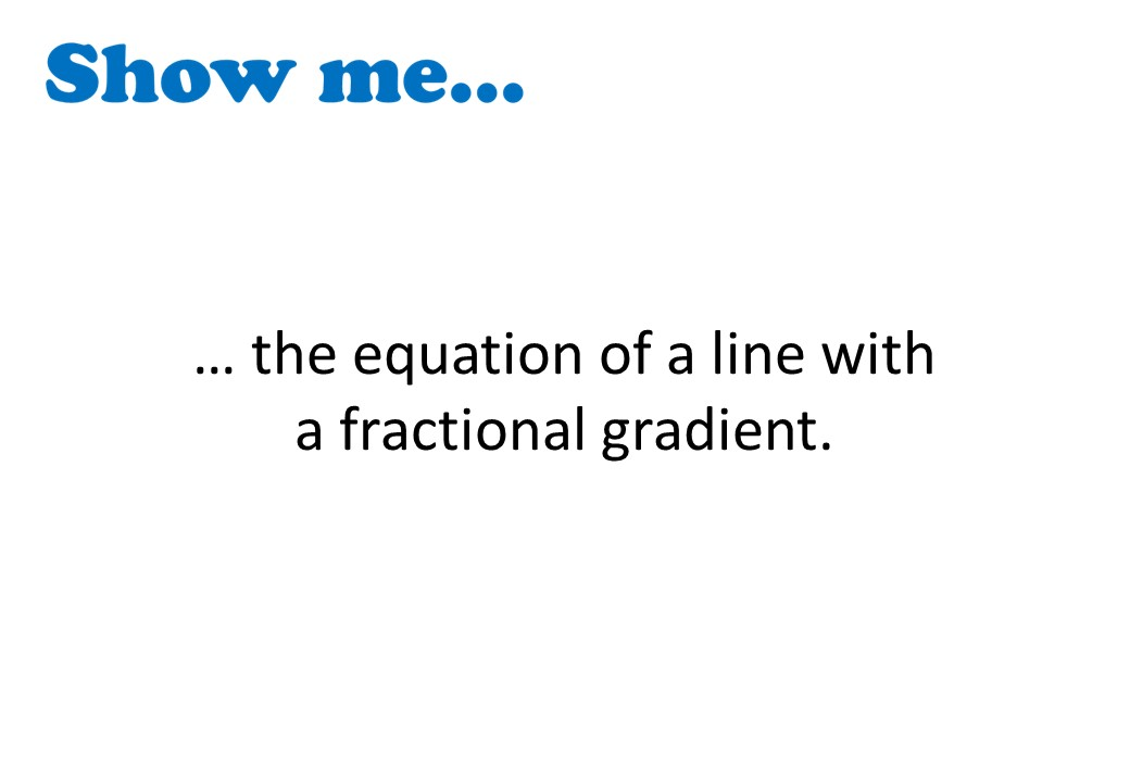 Equations of Lines - Finding Gradient & Intercept - Show Me