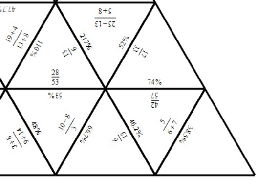 Fractions to Percentages - Calculator - Tarsia