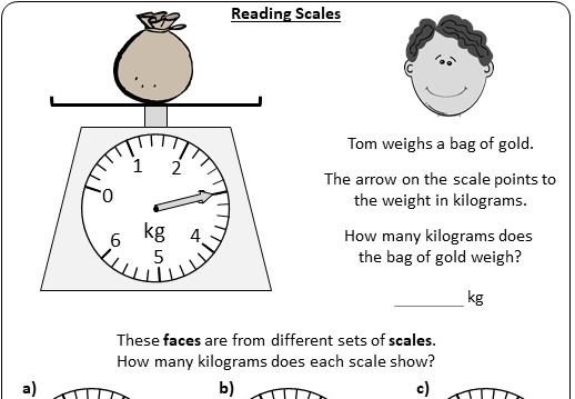 Reading Scales - Worksheet A