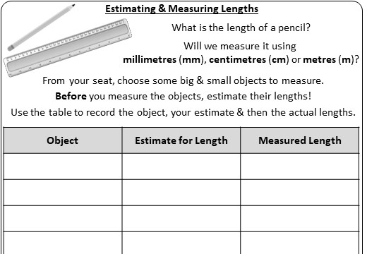Systems of Measurement - Metric - Activity A