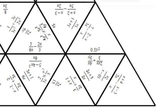 Algebraic Fractions - Mixed Arithmetic - Tarsia