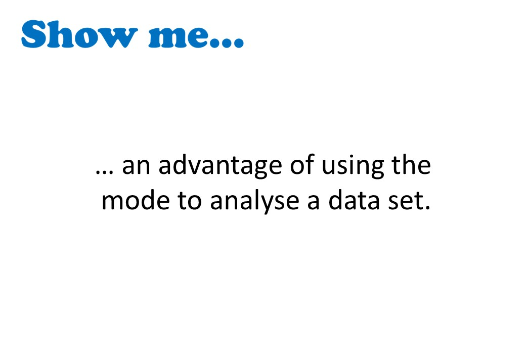 Choosing an Average - Show Me