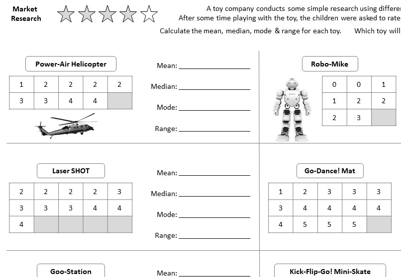 Comparing Data - Worksheet B
