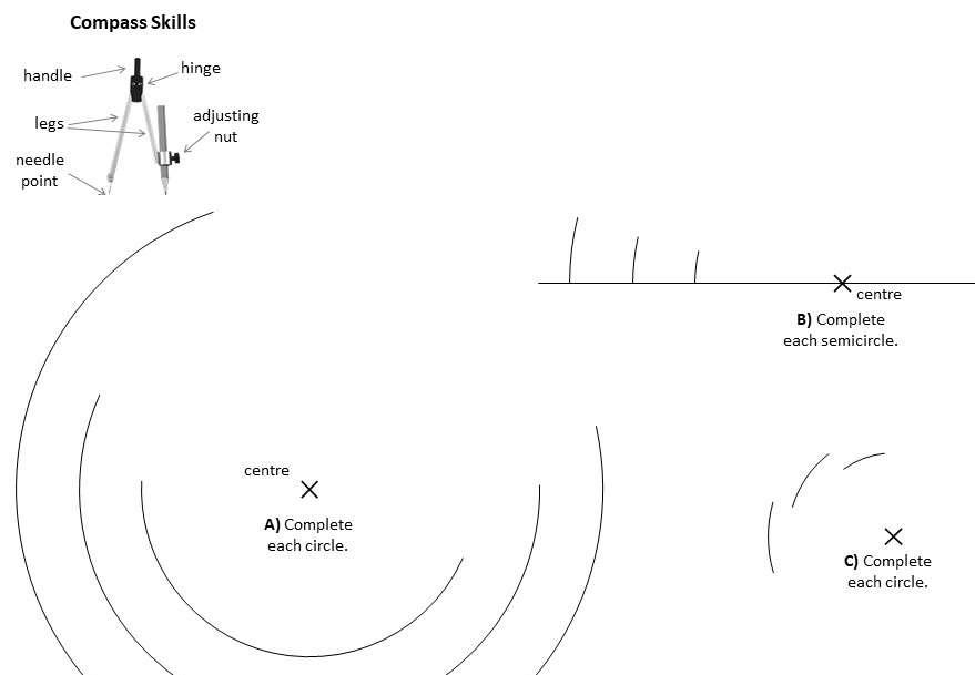 Compass Skills - Worksheet A
