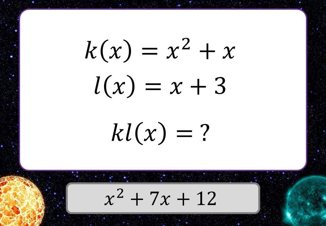 Composite Functions - With Quadratics - 3 Stars