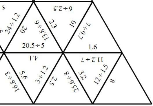 Decimals - With Integers - Dividing - Tarsia