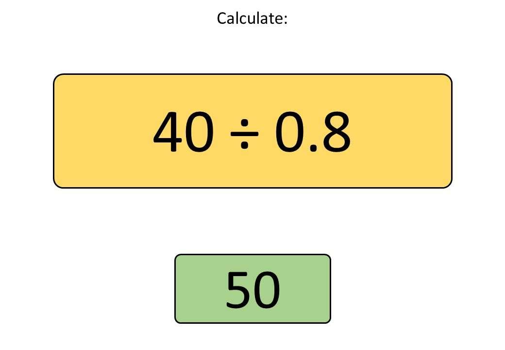 Dividing - Divisor Less Than 1 - Bingo OA