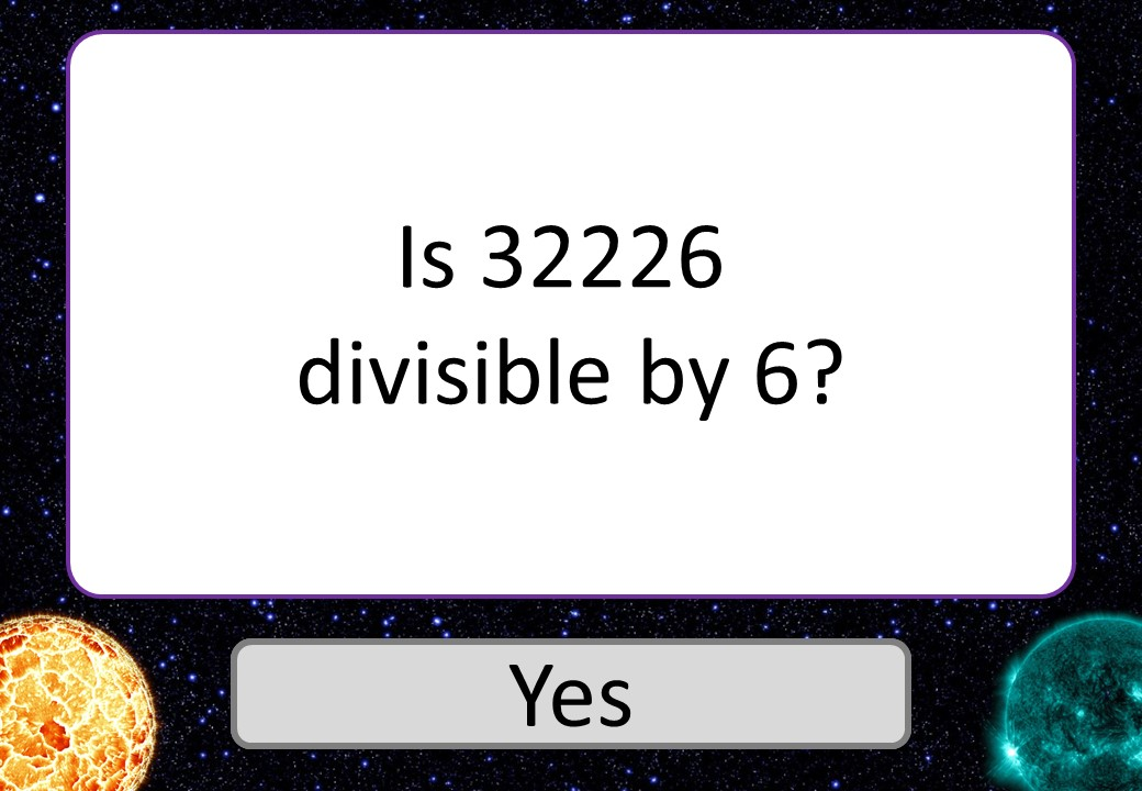 Divisibility Rules - 3 Stars
