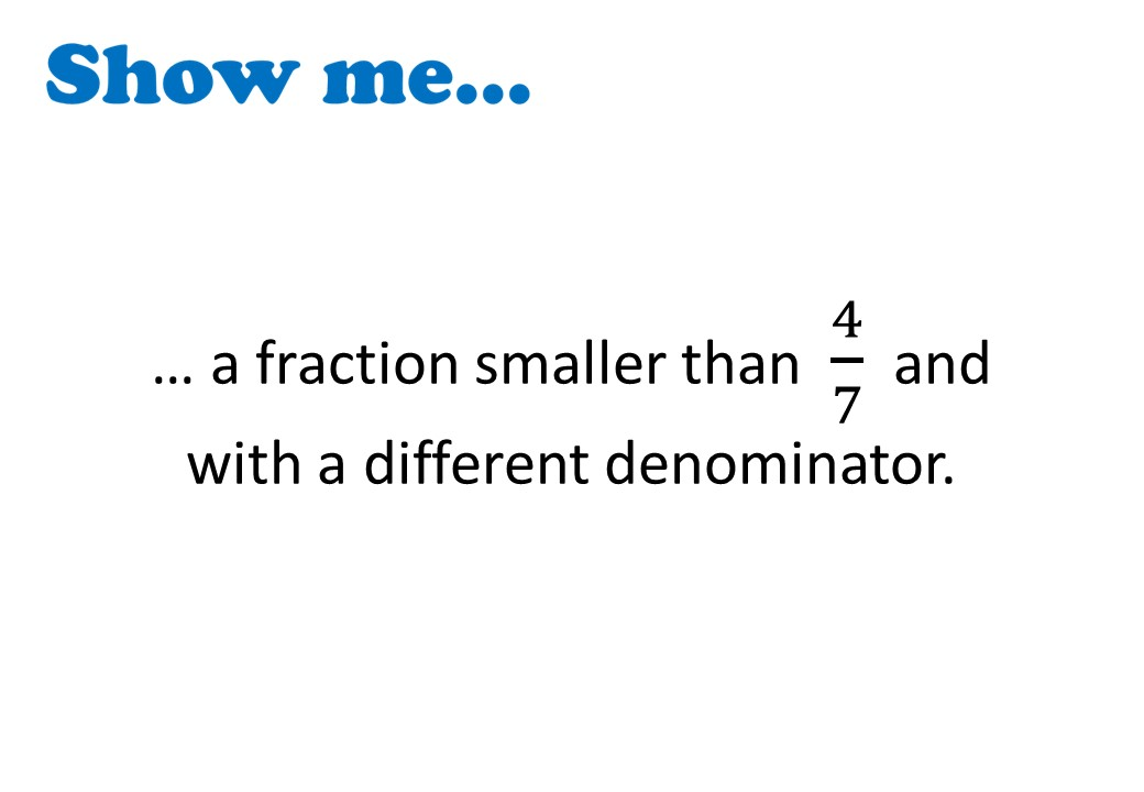 Equivalent Fractions - Calculations - Show Me