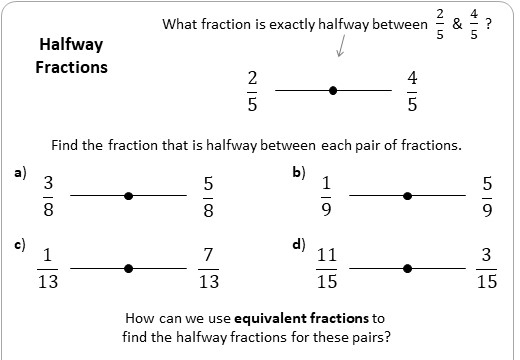 Equivalent Fractions - Calculations - Worksheet A