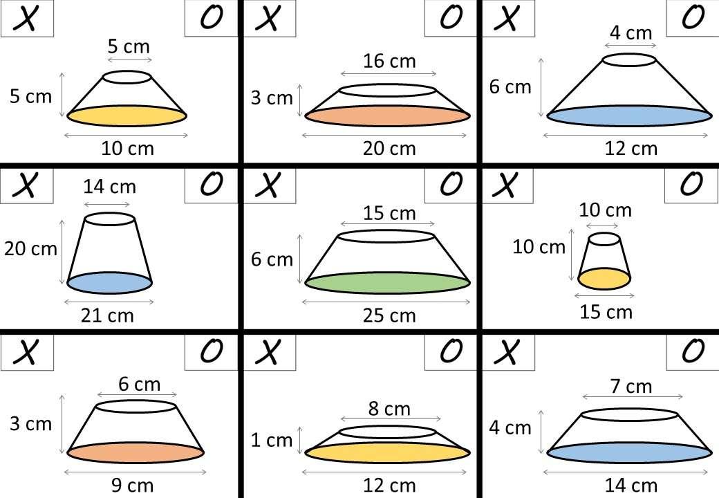 Frustum - Volume & Surface Area - Noughts & Crosses
