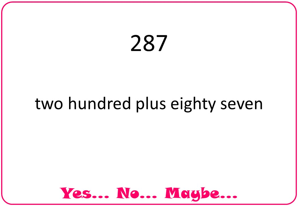 Integers as Words - Yes No Maybe