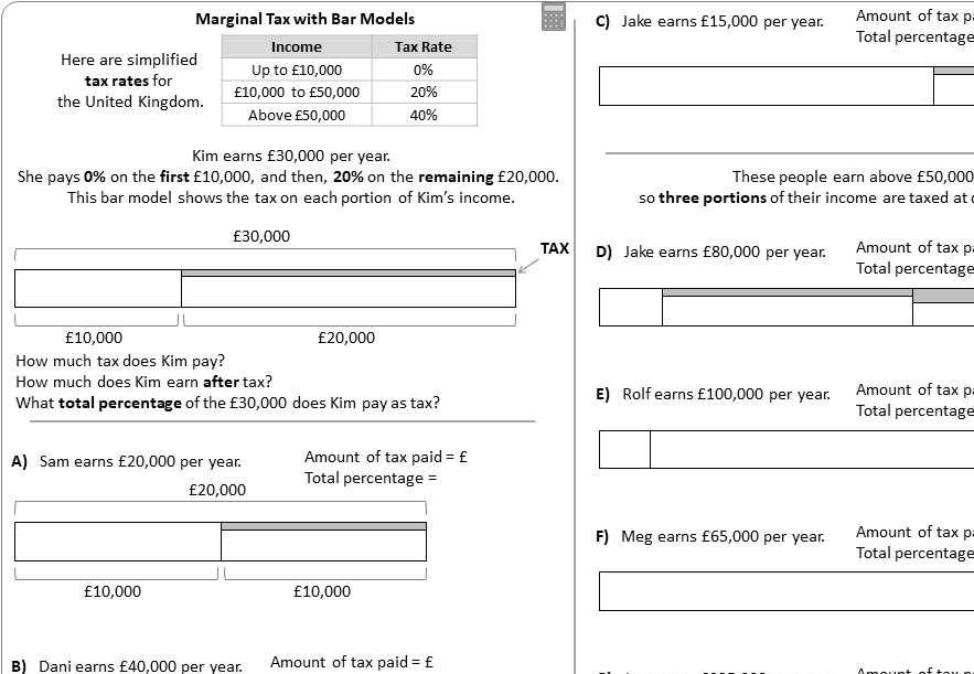 Marginal Tax - Worksheet B