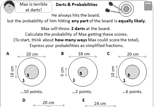 Probability - AND & OR with Listing - Worksheet A