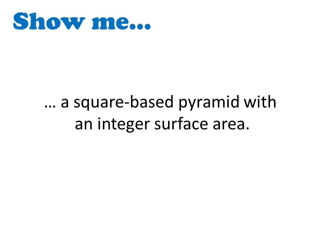 Pyramid - Surface Area - Show Me