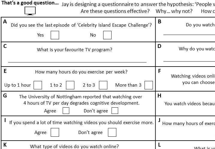 Questionnaires - Card Sort