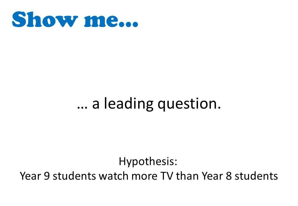 Questionnaires - Show Me