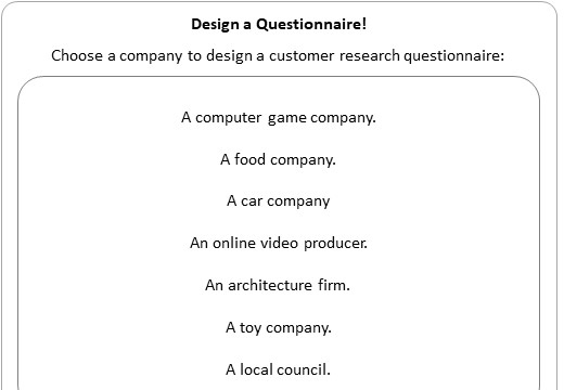 Questionnaires - Worksheet B