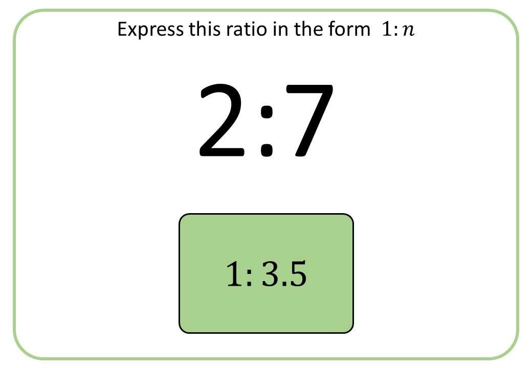 Ratio - Simplifying - 1 to n - Bingo OA