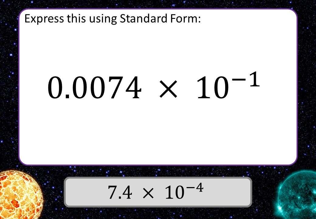 Standard Form - Correcting - 3 Stars