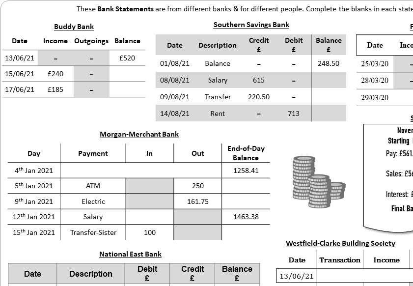 Statements - Worksheet A